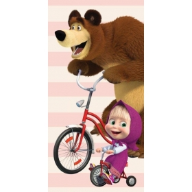 Masha and The Bear beach towel