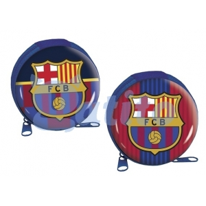 FC Barcelona Round Tin Coin Pouch