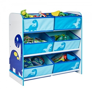 Dinosaurs shelf with toy box