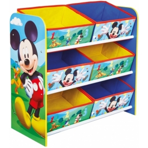 Mickey Mouse shelf with toy box