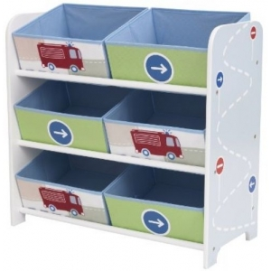 Vehicles shelf with toy box