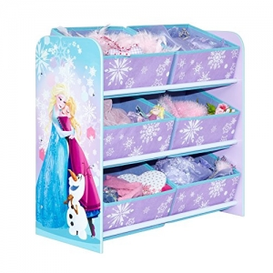 Frozen shelf with toy box