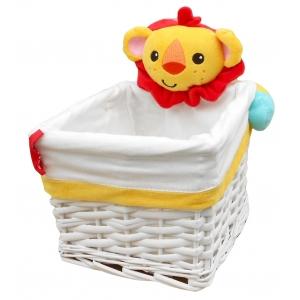 Fisher Price wicker basket – lion