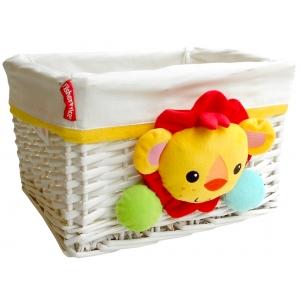 Fisher Price wicker basket 30x25x20 cm  – lion