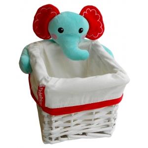 Fisher Price wicker basket 28x22x16 cm – elephant