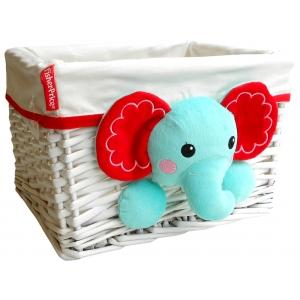 Fisher Price wicker basket 30x25x20 cm – elephant