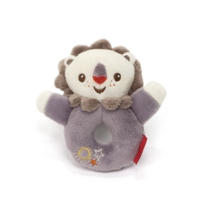 Fisher Price mascot with rattle – lion
