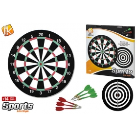 Dart board d37 cm + 6 darts metal tip