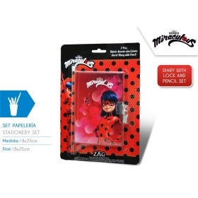 Miraculous Ladybug diary with pencil case