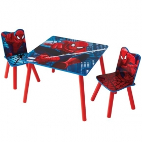 Spiderman table and 2 chairs
