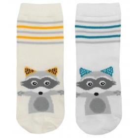 Raccoon baby socks