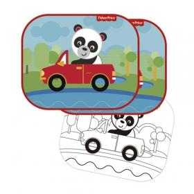 Fisher Price car sun shade 2 pcs + draw – panda