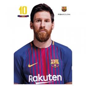 FC Barcelona Messi A4 postcard