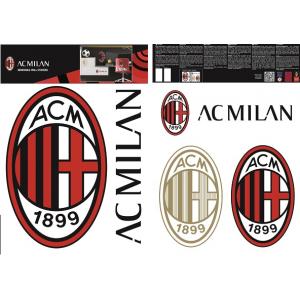 AC MIlan wall sticker logo 2 sheets