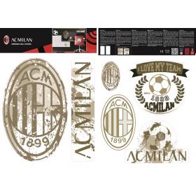 AC MIlan wall sticker logo vintage 2 sheets