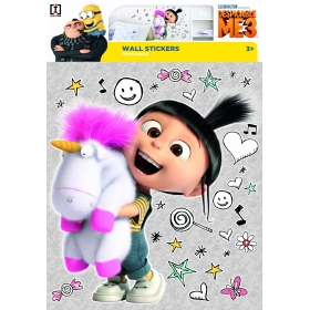 Minions wall sticker agnes & unicorn 1 sheet
