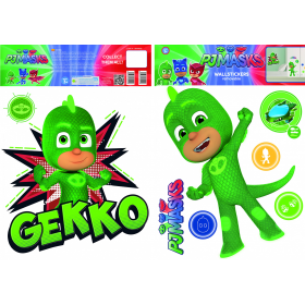 PJ Mask wall sticker gekko 2 sheets