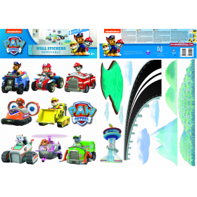 Paw Patrol wall sticker cars 2 sheet