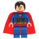 Lego DC Comics Super Heroes Superman minifigure Clock