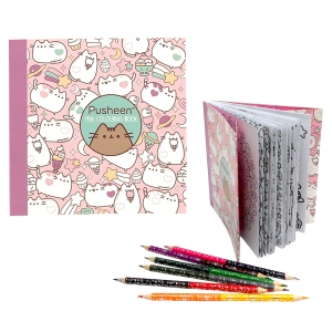 Pusheen Travel Colouring Book Set