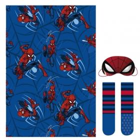 Spiderman fleece blanket, blindfold for sleeping and socks set