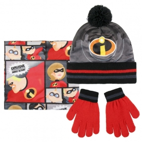 The Increibles autumn / winter hat, chimney scarf and gloves