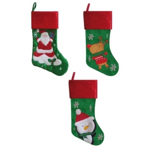Christmas Craft - Stocking snowflake Green/Red - model to choose