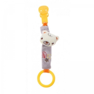 Fisher Price pacifier holder with rattle – bear