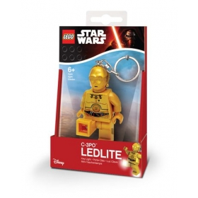 Lego Star Wars C-3PO keychain with LED torch