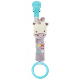 Fisher Price pacifier holder with rattle – giraffe