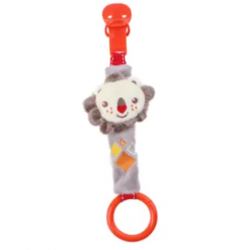 Fisher Price pacifier holder with rattle – lion