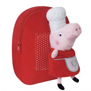 Peppa Pig backpack with plush toy