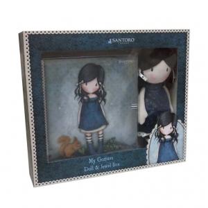 Gorjuss Santoro set: doll + jewelry box