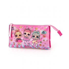 LOL Surprise 3 Compartments Pencil Case
