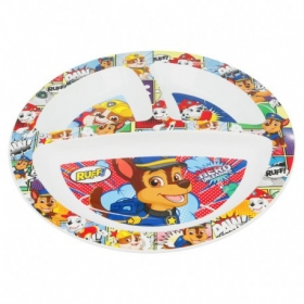 Kids Micro Divided Plate Paw Patrol Comic