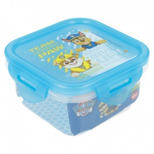 Square Hermetic Food Container 290 Ml Paw Patrol Comic
