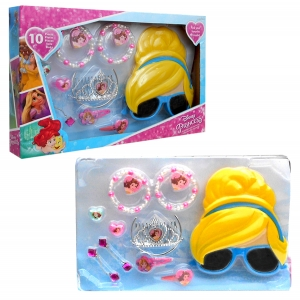 Princess hair accessories, jewellery and 3D sunglasses gift set