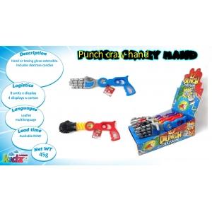 Punch Crazy Hand dextrose candies