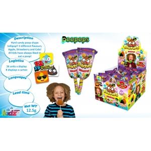 Poo Pop lollipop + 3D sticker