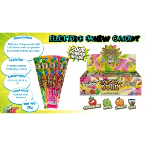 Electro Sour Chew Candy