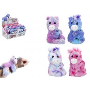 12 cm Unicorn Snapband Plush Mini Hugglers 24pce Cdu 4 Asst