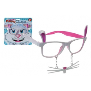Easter funny rabbit glasses with whiskers + teeth