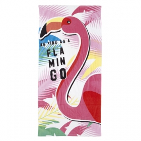 Zaska Flamingo beach towel