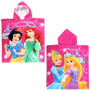 Princess hooded poncho towel