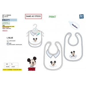 Mickey Mouse bib 2 pack