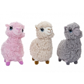 Alpaca With Embroidered eyes 3 Assorted Colours plush