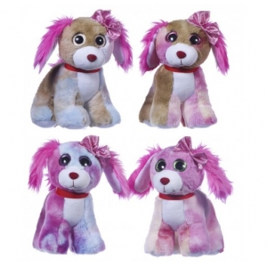 23cm Dogs With Sparkle Eyes 4 Asst - random style