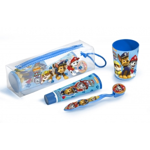 Paw Patrol Dental Toilet Bag: Toothbrush, Toothpaste & Beaker