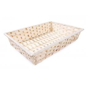 Tin Tours Rectangular bamboo basket 35x25x7h cm