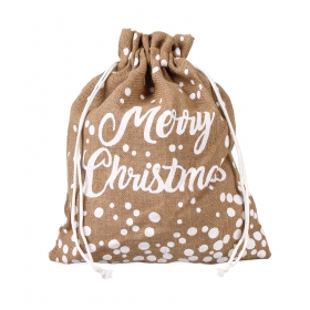 "Tin Tours Christmas jute sack ""merry christmas"" 45x40 cm"